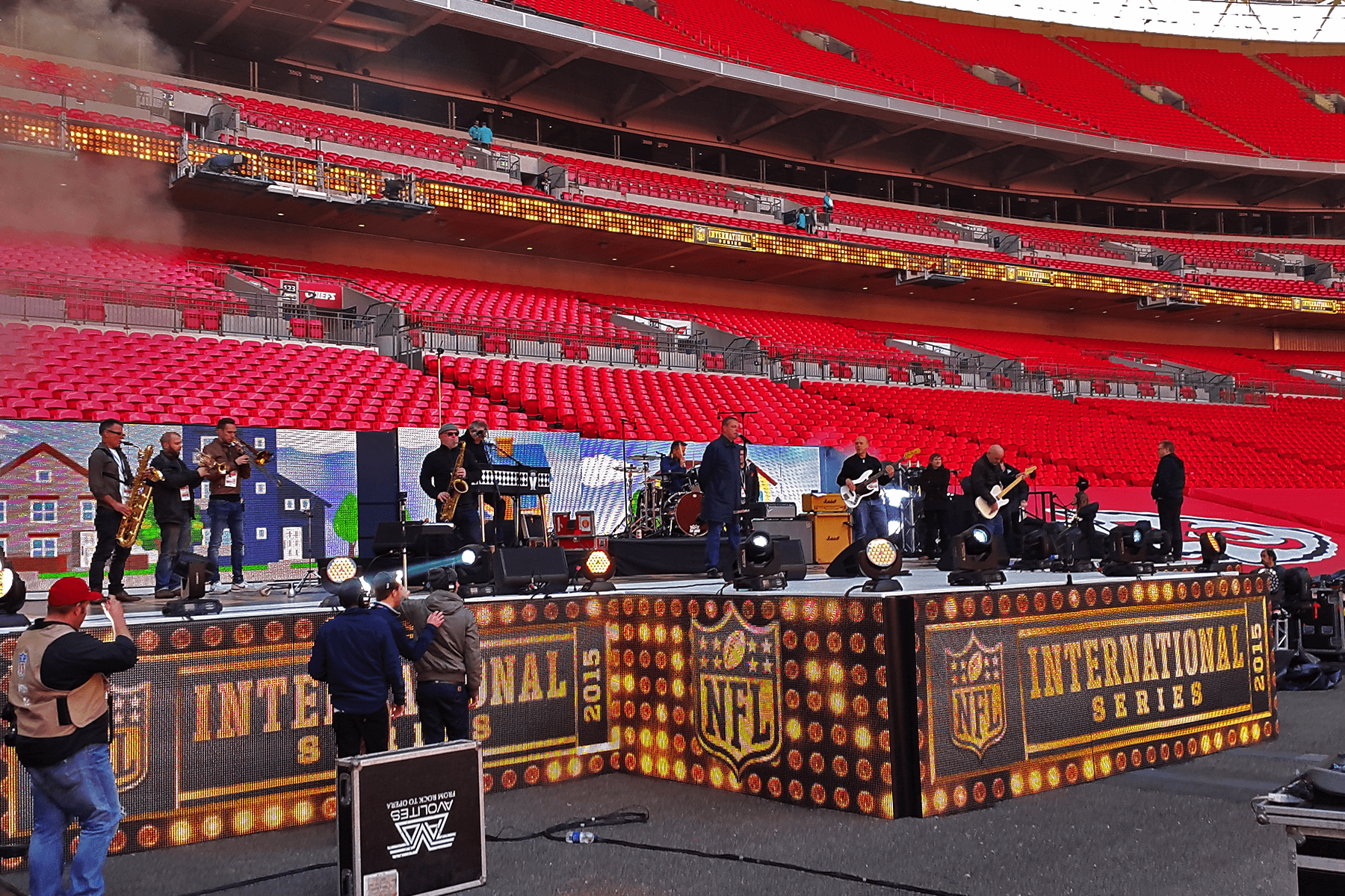 Madness at NFL International Series Stage Management