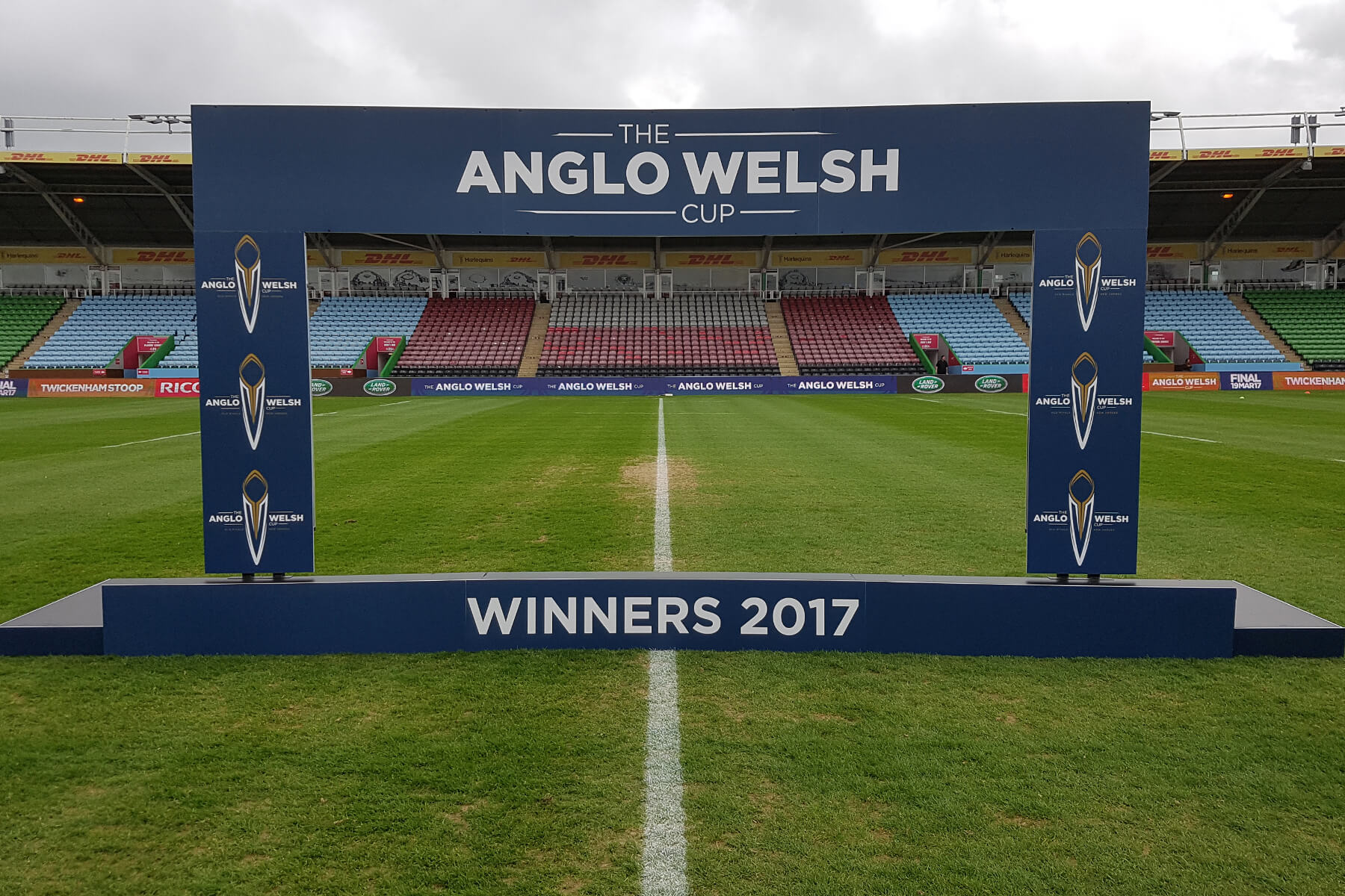 Legged Winners Board Podium for Anglo-Welsh Cup Final 2017