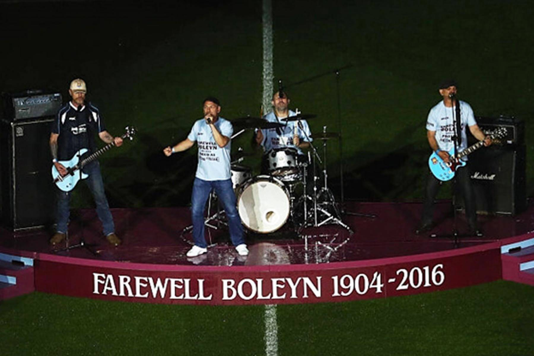 Bespoke Performance Stage Hire for Farewell Boleyn Ceremony at Upton Park West Ham