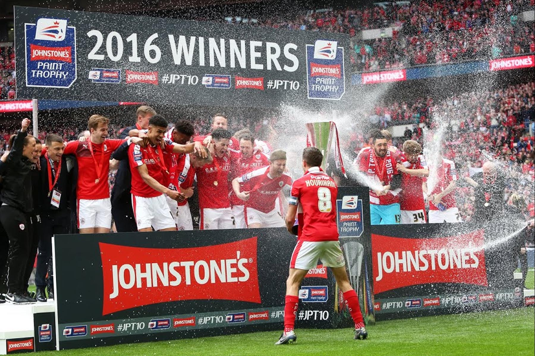 Johnstone's Paint Trophy Final 2016 Enhanced Winners Podium Stage Wembley
