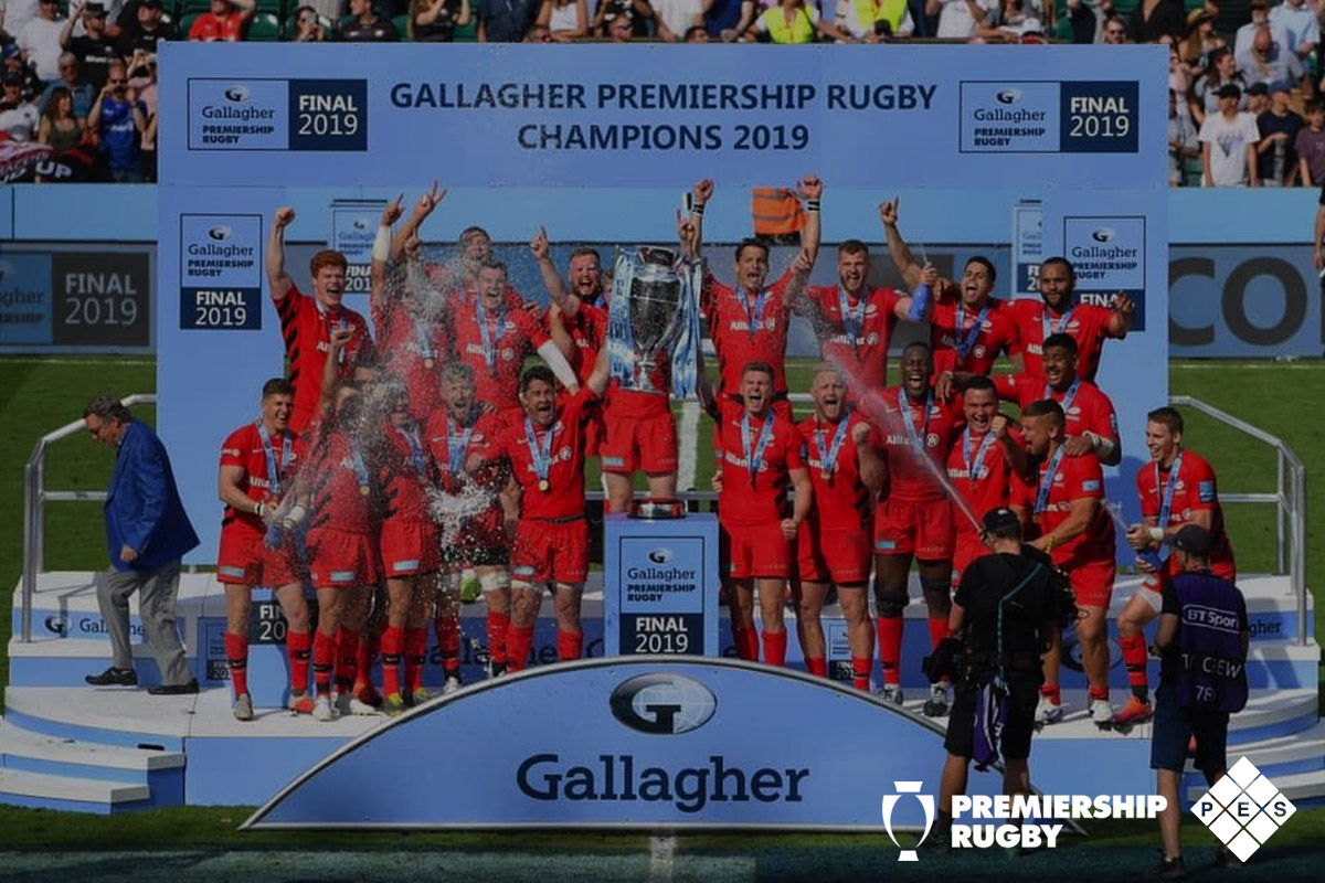 Gallagher Premiership Rugby Champions 2019 Winners Podium