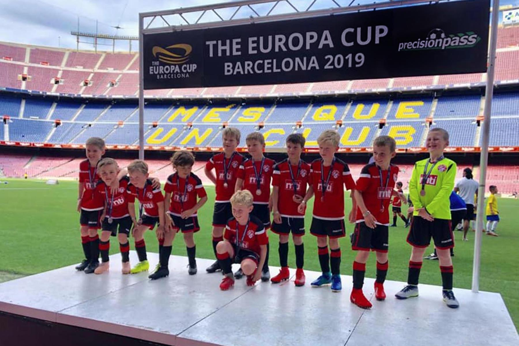 Small Sports Presentation Stage for Precision Pass at The Nou Camp Barcelona