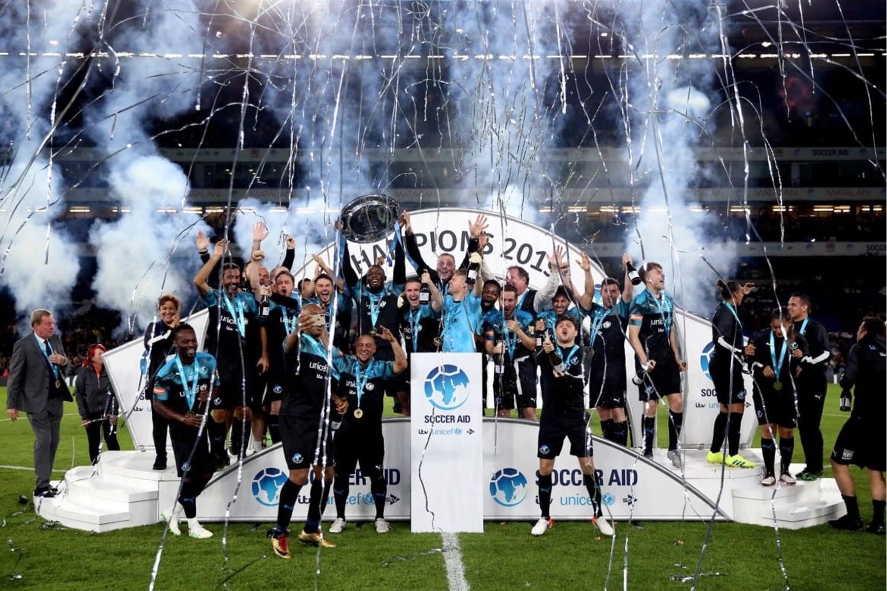 Sports Stage Hire at Soccer Aid 2019