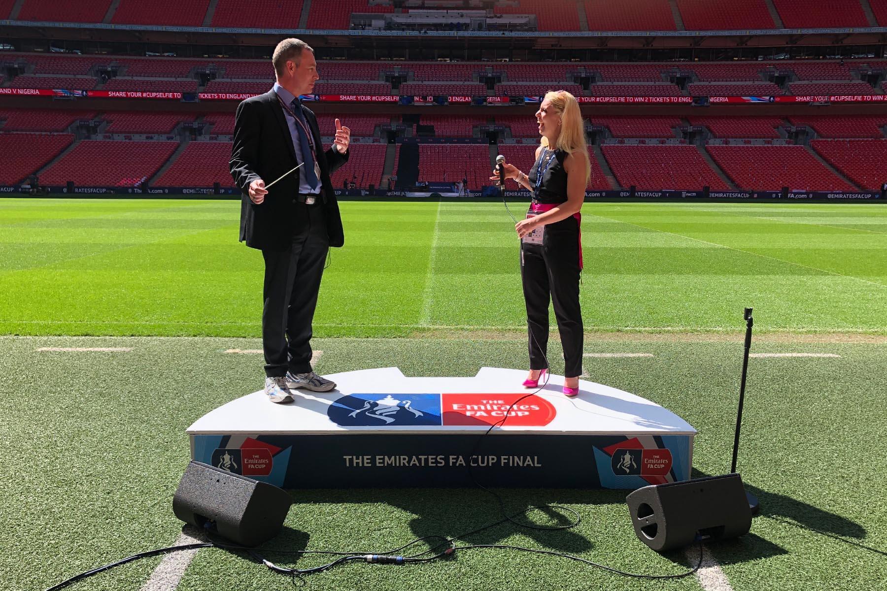 National Anthem Podium at FA Cup Final 2019 Wembley